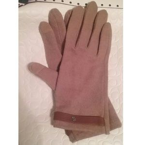 Lauren Elegant Wool Cashmere Leather Gloves NWOT